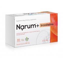 Narum+ Brzoskwinia 200 mg (30 kaps) Probiotyk Lactobacillus Acidophilus Narine