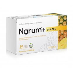 Narum+ Ananas 200 mg (30 kaps) Probiotyk Lactobacillus Acidophilus Narine