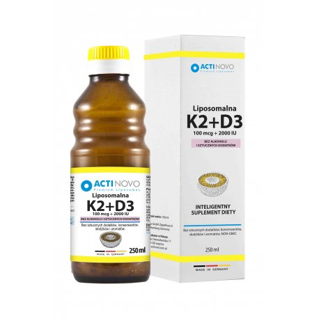 Liposomalna Witamina K2 MK-7 + D3 (250ml) Bez Alkoholu Actinovo