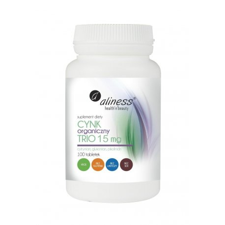 Cynk Organiczny TRIO 15 mg (100tab) Aliness