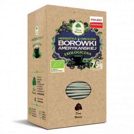 Herbatka z Owoców Borówki EKO 25x3 g Dary Natury