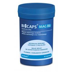 BICAPS Mag B6 Cytrynian Magnezu Witamina B6 P-5-P (60 kaps) ForMeds