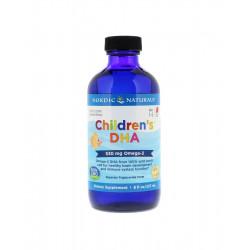 Children's DHA 530 mg Kwasy Omega-3 dla Dzieci Truskawka 237 ml Nordic Naturals