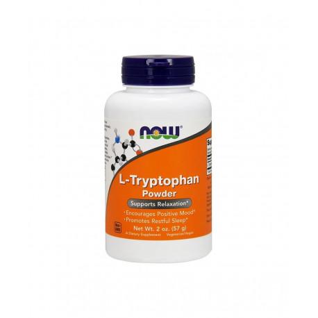 L-Tryptophan Tryptofan Proszek 57 g Aminokwasy Now Foods