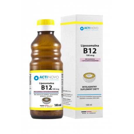 Liposomalna Witamina B12 100mcg (100ml) Bez Alkoholu Actinovo