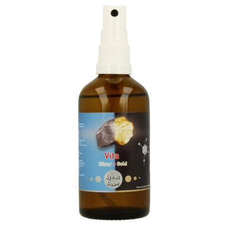 Vita Silver + Gold Ag + Au 50 ppm - Niejonowe Złoto i Srebro Koloidalne 2w1 100 ml Vitacolloids