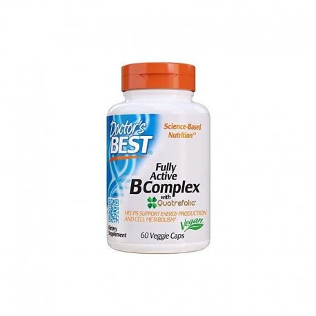 Fully Active B Complex (60 kaps) Kompleks Witamin B + Kwas foliowy Doctor's Best