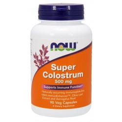 Super Colostrum 500 mg (90 kaps) Wołowe Kolostrum Now Foods