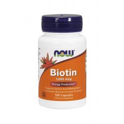 Biotin Biotyna 1000 mcg (100 kaps) Witamina B7 Now Foods