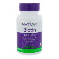 Biotin Beauty Biotyna 1000 mcg (100 tab) Witamina B7 Natrol