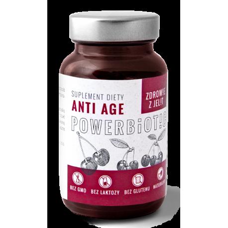 Powerbiotic Anti Age Zdrowie z jelit Fermentowany Sok z Wiśni (60 kaps) Ecobiotics