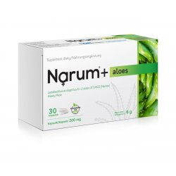 Narum+ Aloes 200 mg (30 kaps) Probiotyk Lactobacillus Acidophilus Narine