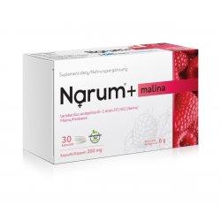 Narum+ Malina 200 mg (30 kaps) Probiotyk Lactobacillus Acidophilus Narine
