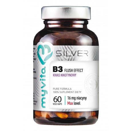 Witamina B3 Niacyna Flush Effect 16 mg (60 kaps) Silver MyVita