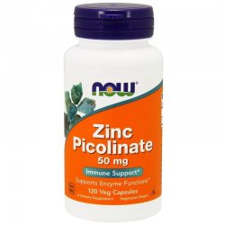 Zink Picolinate 50 mg (120 kaps) Pikolinian Cynku Now Foods