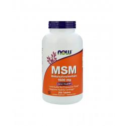 MSM Siarka Organiczna 1500 mg (200 tab) Now Foods