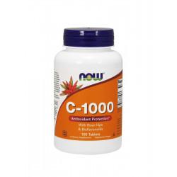 Witamina C-1000 + Bioflawonoidy Cytrusowe + Dzika Róża (100 tab) Now Foods