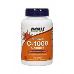 Witamina C-1000 Complex Buforowana + Bioflawonoidy + Rutyna + Acerola (90 tab) Now Foods
