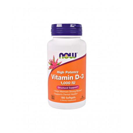 Witamina D3 1000 IU (180 sgels) Now Foods