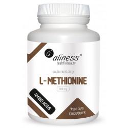 L-Methionine L-Metionina Aminokwasy 500 mg (100 kaps) Aliness