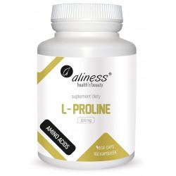 L-Proline L-Prolina Aminokwasy 500 mg (100 kaps) Aliness
