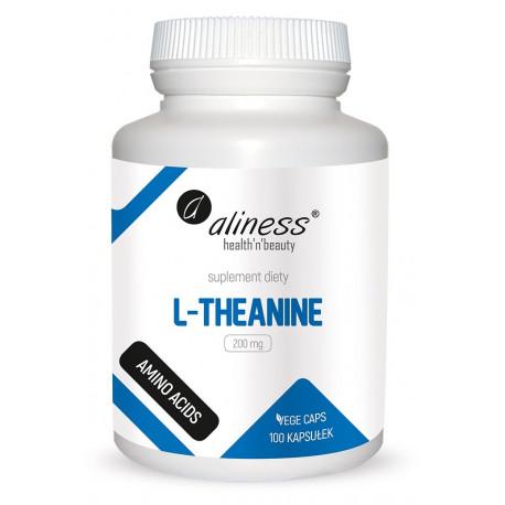 L-Theanine L-teanina Aminokwasy 200 mg (100 kaps) Aliness