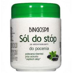 Sól do Stóp ze skłonnościami do Pocenia (Polecana Przy Uczuciu Ciężkich Stóp) 550 g BingoSpa