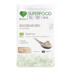 Baobab Bio SuperFood Proszek 200 g BeOrganic