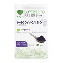 Jagody Acai Bio SuperFood Proszek 100 g BeOrganic