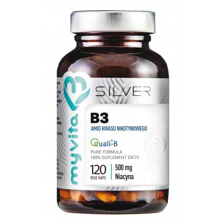 Witamina B3 Amid Kwasu Nikotynowego 500 mg (120 kaps) Silver MyVita