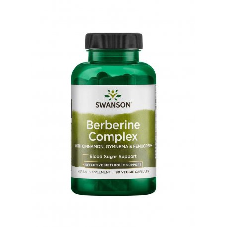 Berberine Complex Berberyna Kompleks 600 mg (90 kaps) Swanson