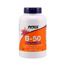 Witaminy B-50 B50 B-complex (250 tab) Now Foods