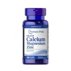 Wapń 1000 mg + Magnez 400 mg + Cynk 25 mg Chelatowany (100 tab) Puritan's Pride