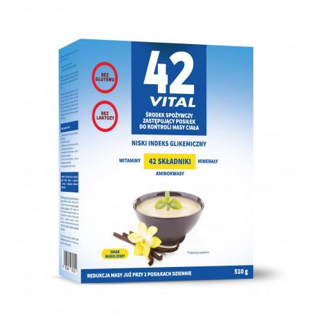 42 VITAL Niskokaloryczna Dieta Roślinna Smak Waniliowy 510g Aliness