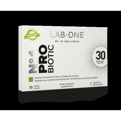 Nr 1 ProBiotic 30 mld 10 Szczepów Probiotyki (10 kaps) Lab One