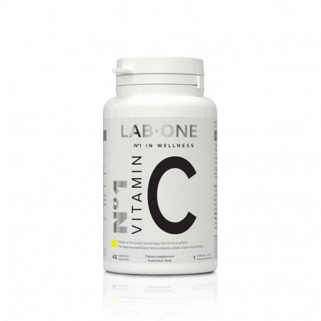 Nr 1 Vitamin C 1000 mg Witamina C Kwas L-askorbinowy (45 kaps) Lab One