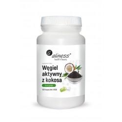Węgiel Aktywny z Kokosa Spożywczy FOOD GRADE 300 mg (100 kaps) Aliness