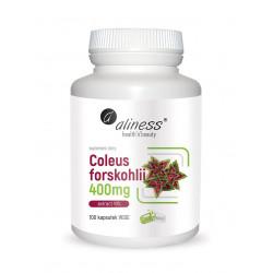 Pokrzywa Indyjska Coleus Forskohlii 10% 400 mg (100 kaps) Aliness