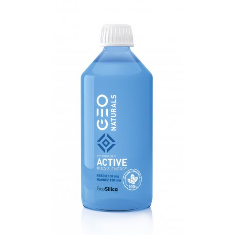 SILICA ACTIVE Krzem 100 mg + Magnez 150 mg (500 ml) GeoSilica Geonaturals