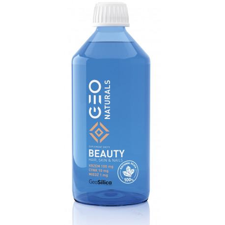 SILICA BEAUTY Krzem 100 mg + Cynk 10 mg + Miedź 1 mg (500 ml) GeoSilica Geonaturals