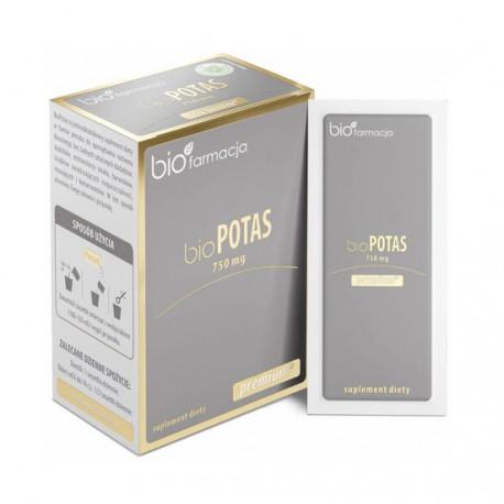 Organiczny Bio Potas 750 mg (30 saszetek) Biofarmacja