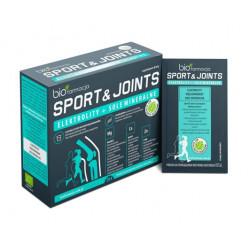 Elektrolity + Sole Mineralne Sport & Joints Glukozamina Magnez Potas Wapń Cynk (14 saszetek) Biofarmacja