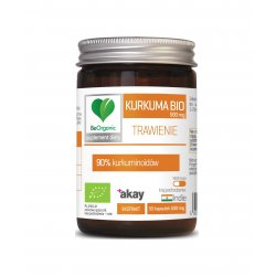 Kurkuma BIO 500 mg TRAWIENIE Kurkumina + Piperyna (50 kaps) BeOrganic