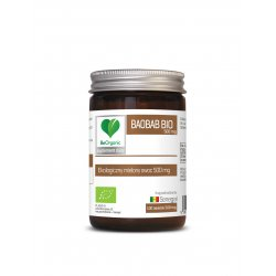 Baobab BIO 500 mg Ekologiczny Mielony Owoc (100 tab) BeOrganic