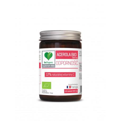 Acerola BIO 500 mg (100 tab) Naturalna Witamina C BeOrganic