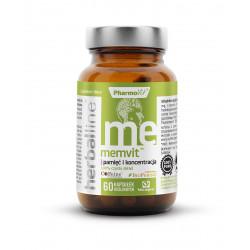 Memvit Pamięć i Koncentracja 7w1 (60 kaps) Herballine Pharmovit
