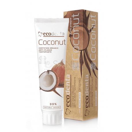 Coconut Organic Ekologiczna Pasta do Zębów Przeciw Kamieniowi z Olejem Kokosowym 100 ml ECODENTA
