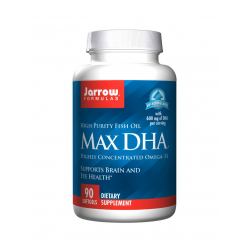 MAX DHA Kwasy Tłuszczowe Omega-3 DHA 600 mg (90 sgels) Jarrow Formulas