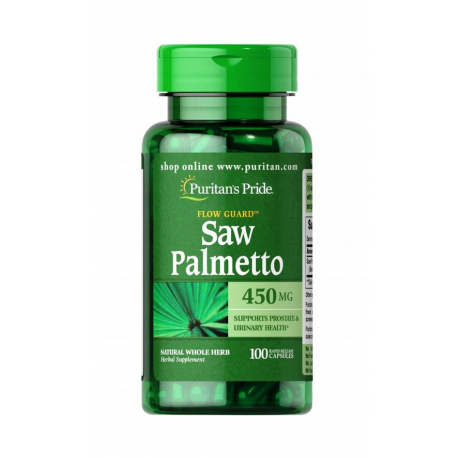 SAW PALMETTO 450 mg (100 kaps) Palma Sabałowa Puritan's Pride