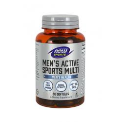 Men\'s Active Sports Multi (90 sg) Zestaw Witamin i Minerałów dla Aktywnych Mężczyzn Now Foods